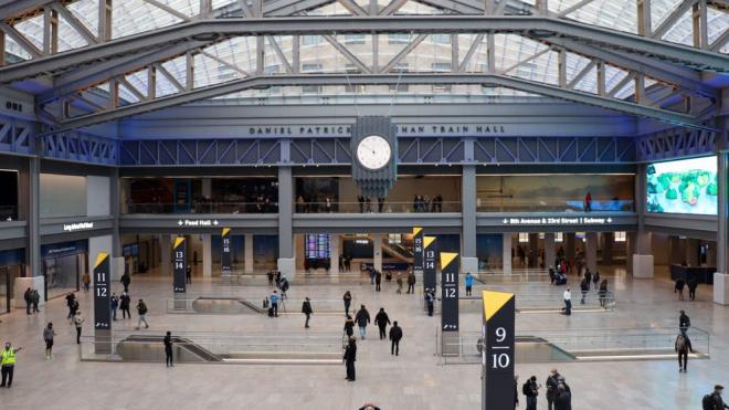 La nueva Penn Station abrió sus puertas el Primer Día del Año 2021